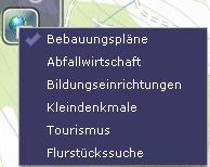 Themenübersicht Bürger-GeoPortal