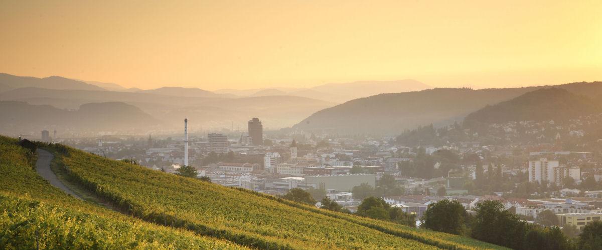 Lörrach im Morgenlicht, Foto: Touristinformation Lörrach