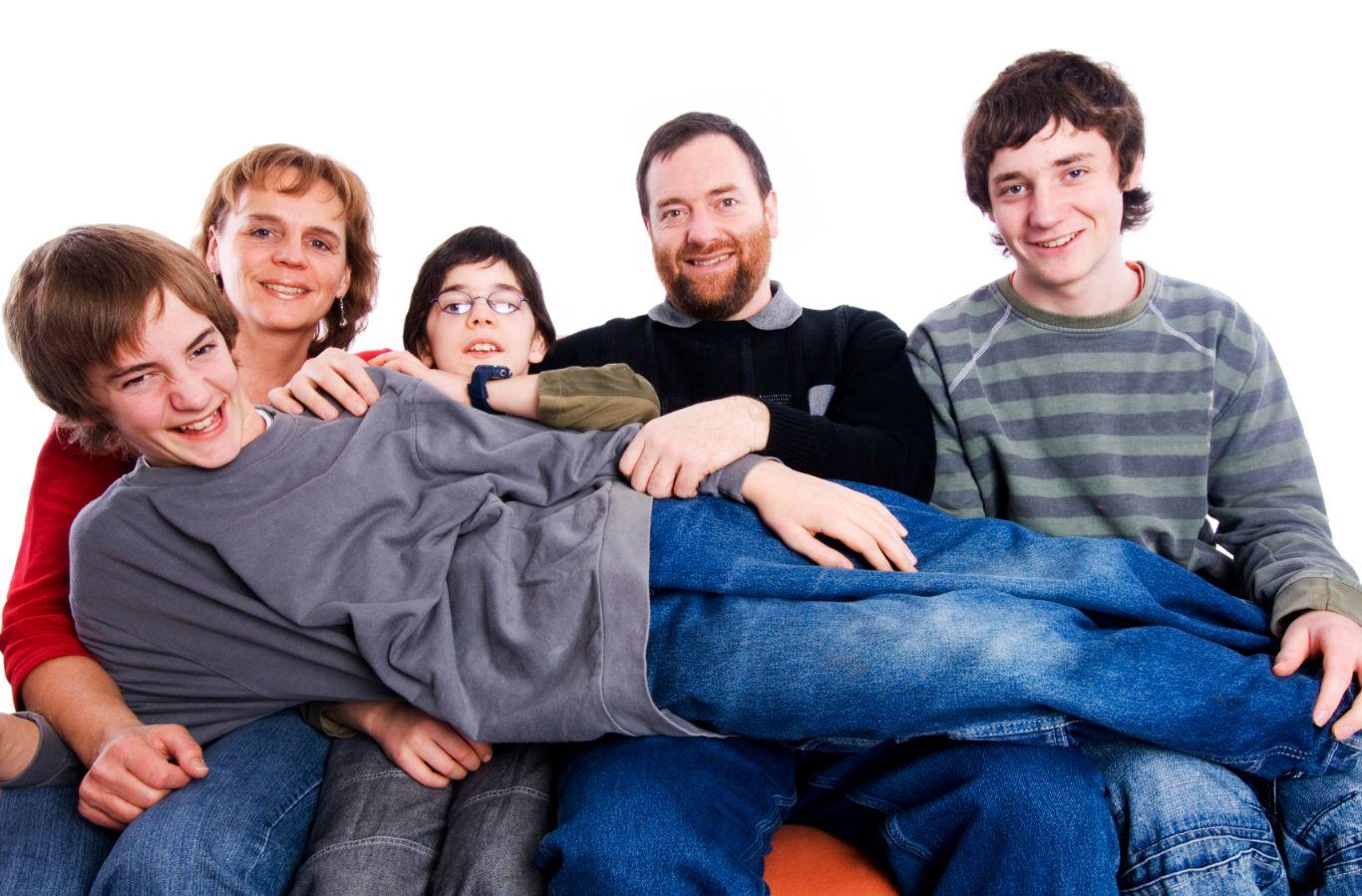 Foto zufriedene Familie