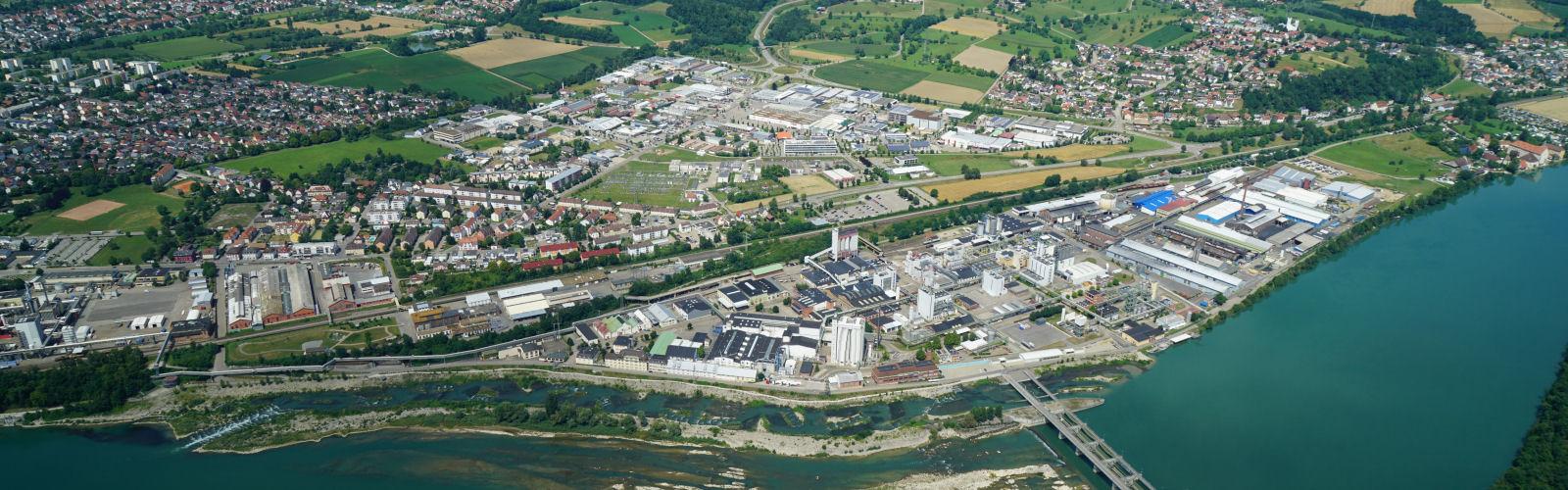 Luftbild Rheinfelden und Minseln