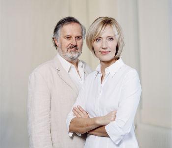 Fernsehmoderatorin Petra Gerster und der Autor Christian Nürnberger