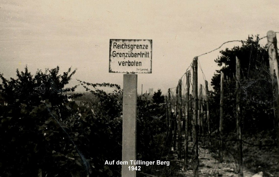 Fertig errichtete Reichsgrenze auf dem Tüllinger Berg 1942 © Bestand Vetter, KrA LÖ
