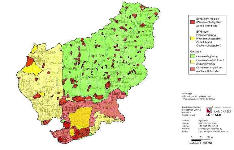 Karte geothermie Landkreis