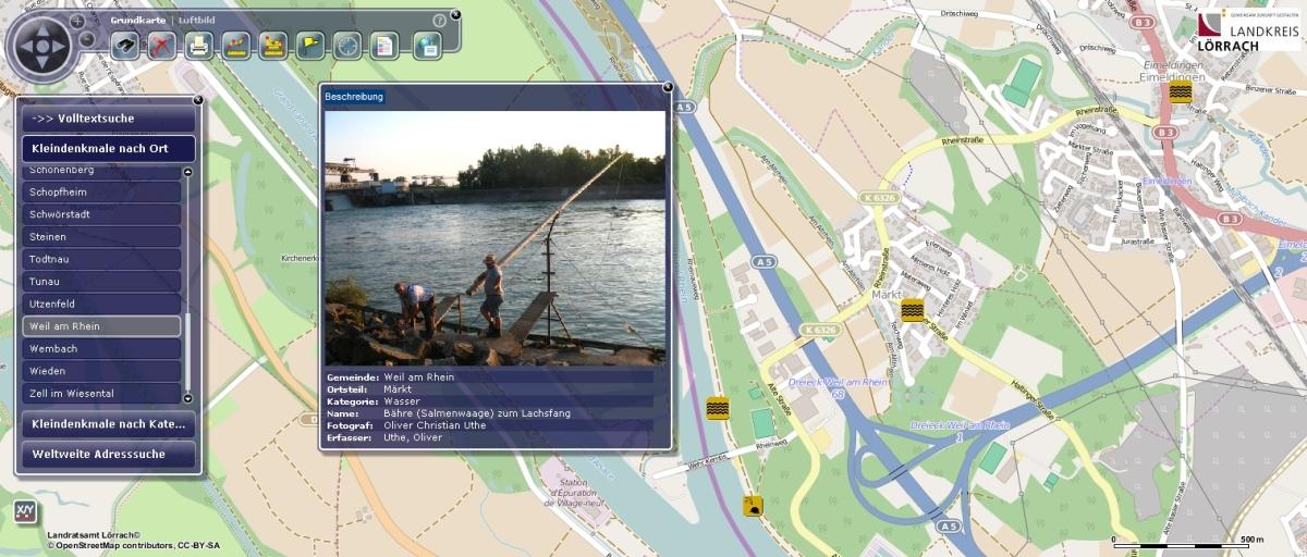 Bürger-GeoPortal Beispielansicht
