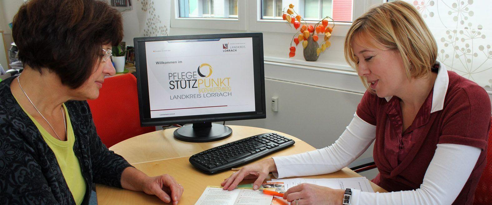 Beratung im Pflegestützpunkt Landkreis Lörrach
