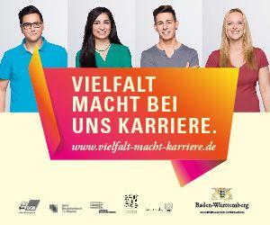 """Banner """"Vielfalt macht bei uns Karriere"""""""