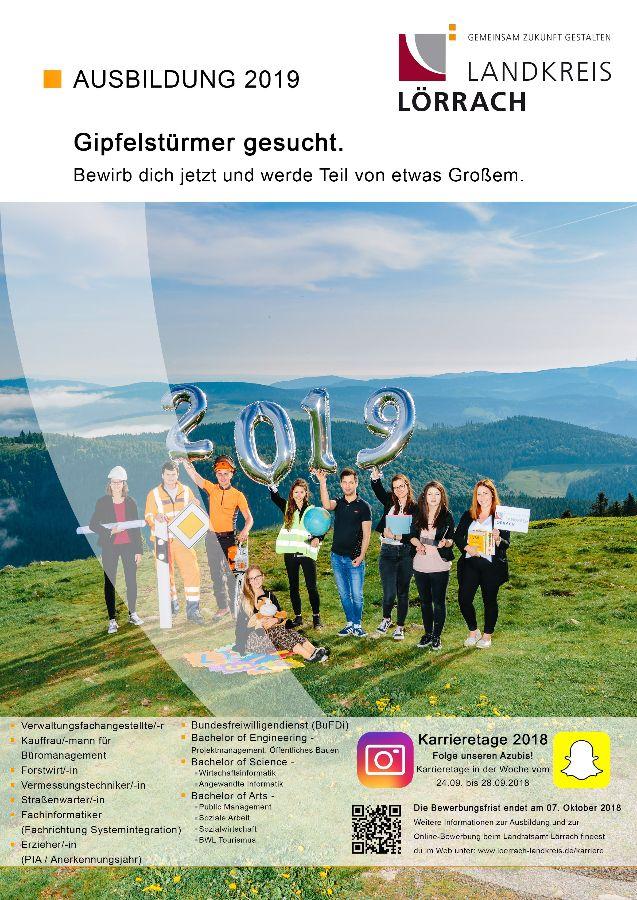 Plakat: Ausschreibung Ausbildungs- und Studienplätze 2019
