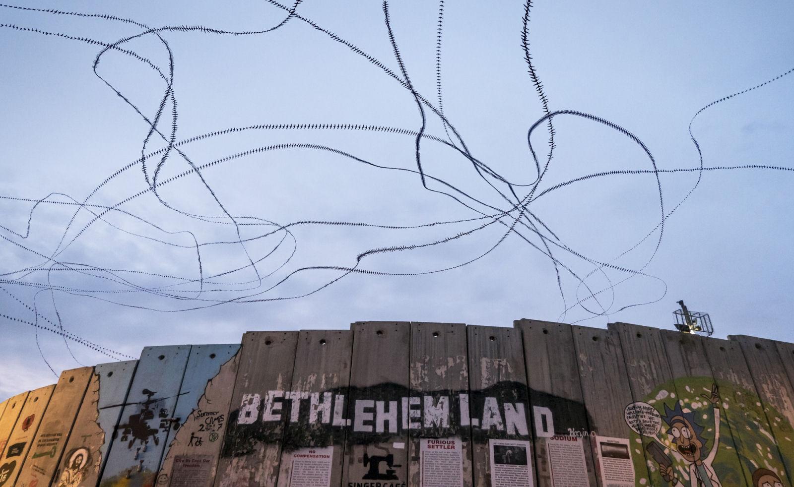 Mauersegler über der Trennmauer in Bethlehem (2.55 Minuten*)
