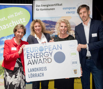 Verleihung des European Energy Awards am Montag, den 18. Februar 2019 in der Universitätsstadt Tübingen.