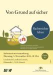Plakat: Radonsicher leben
