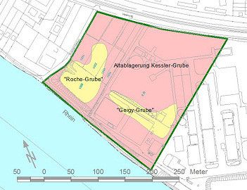 Lageplan der Altablagerung Kesslergrube