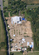 Luftbild der Altlastfläche Hirschacker