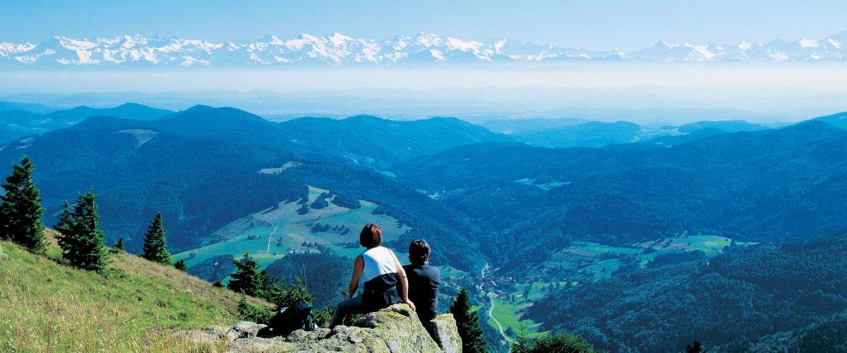 Alpenpanorama vom Belchen aus gesehen, Foto: GVV Schönau