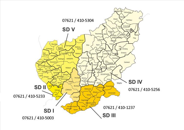 Versorgungsbereiche SD