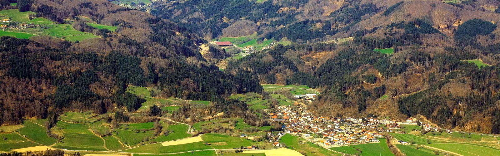 Kleines Wiesental Luftbild