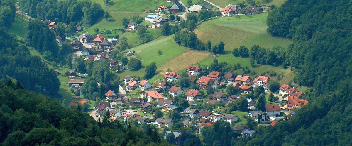 Gemeinde Aitern vom Zweistädteblick aus