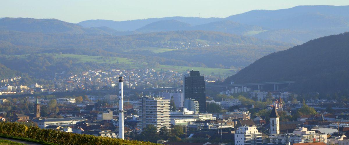 Blick auf die Stadt Lörrach