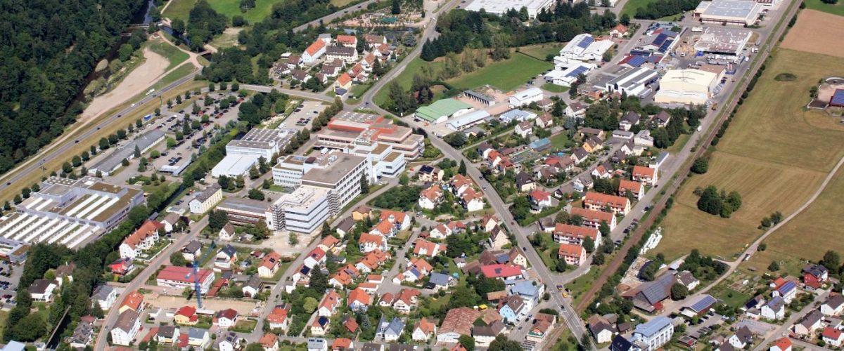 Vogelperspektive auf die Gemeinde Maulburg