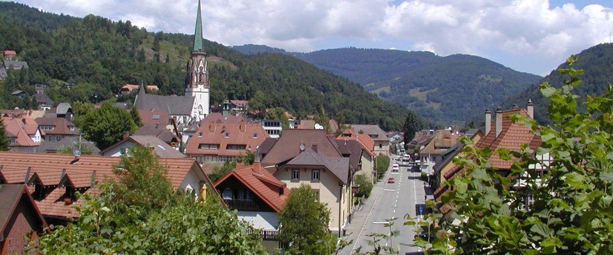 Blick auf Schönau im Schwarzwald