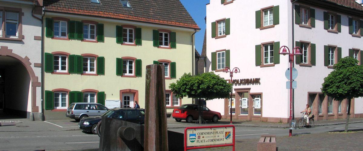 Cornimont-Platz in Steinen