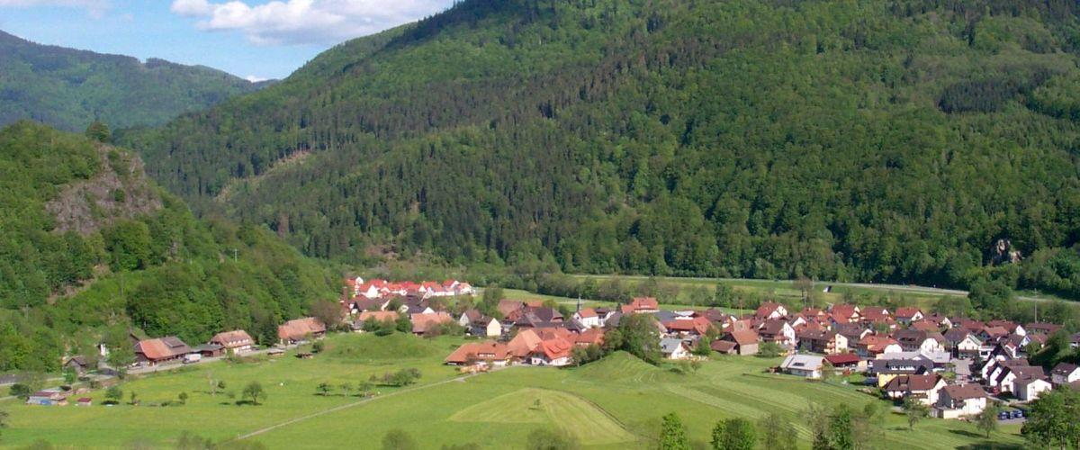 Ausblick auf die Gemeinde Utzenfeld