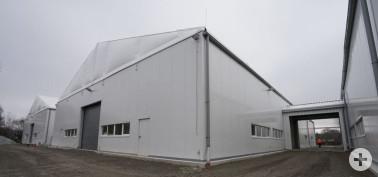 beheizbare Halle, in Schopfheim jedoch kleinere Variante
