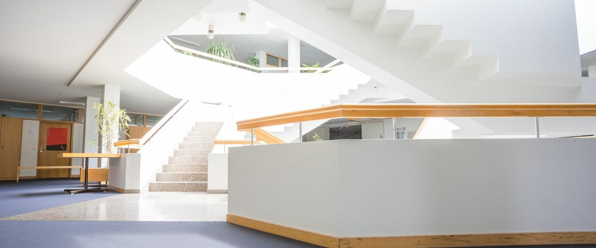 Interessantes Treppenhaus im Landratsamt, Haus 1