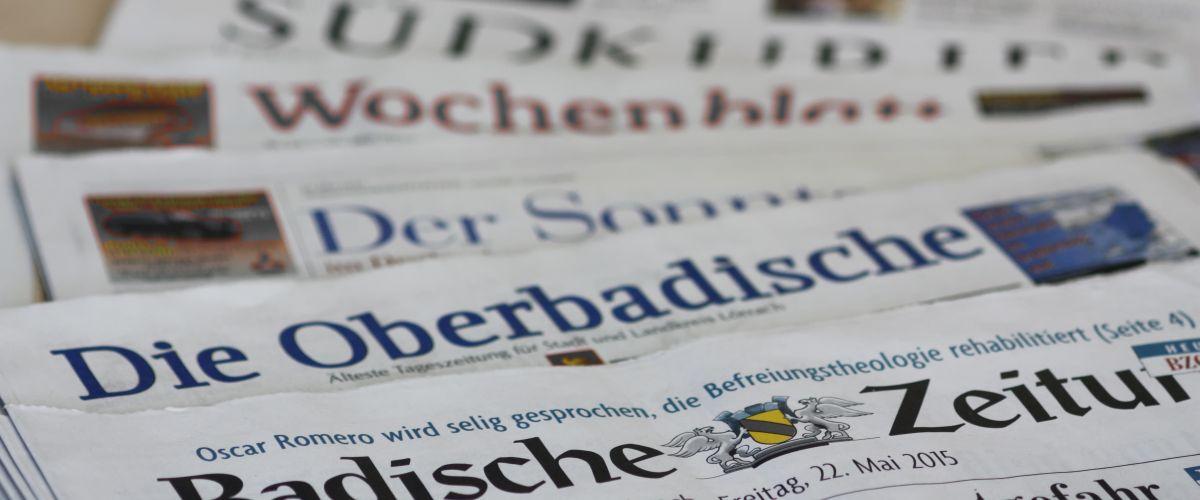 Unsere lokalen Tageszeitungen