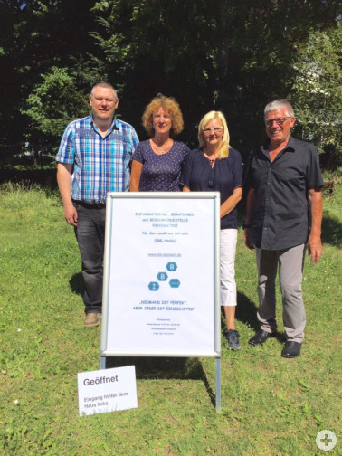 IBB-Beratungsteam, v.l.n.r.: Michael Hiob, Iris Dreher, Roswitha Welke, Berthold Bausch