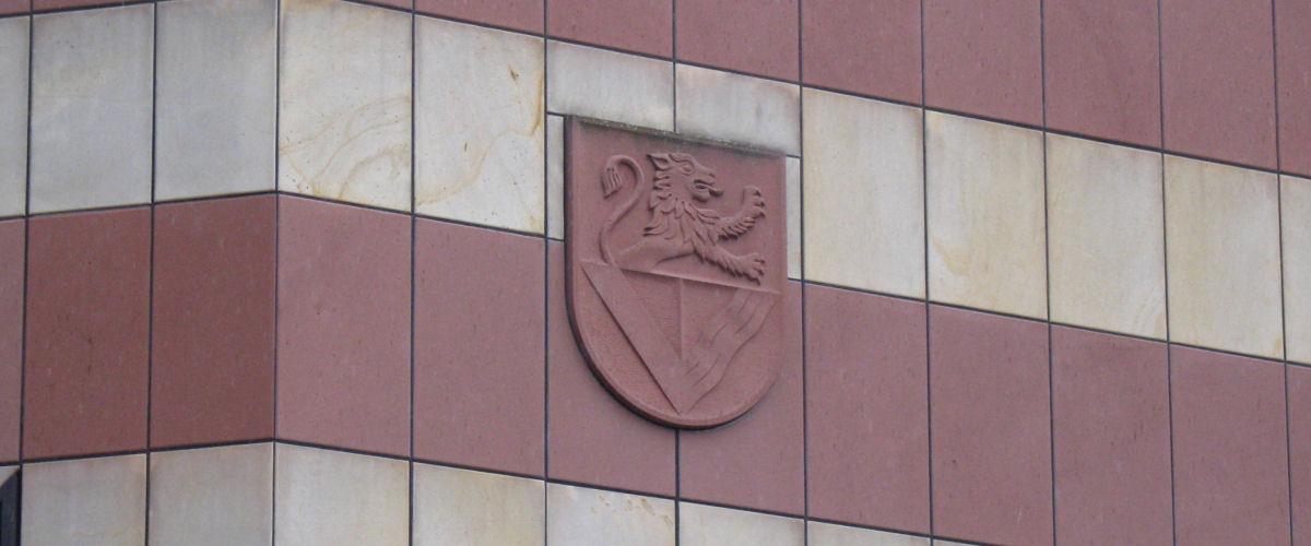 Wappen am Landratsamts-Gebäude Haus 1