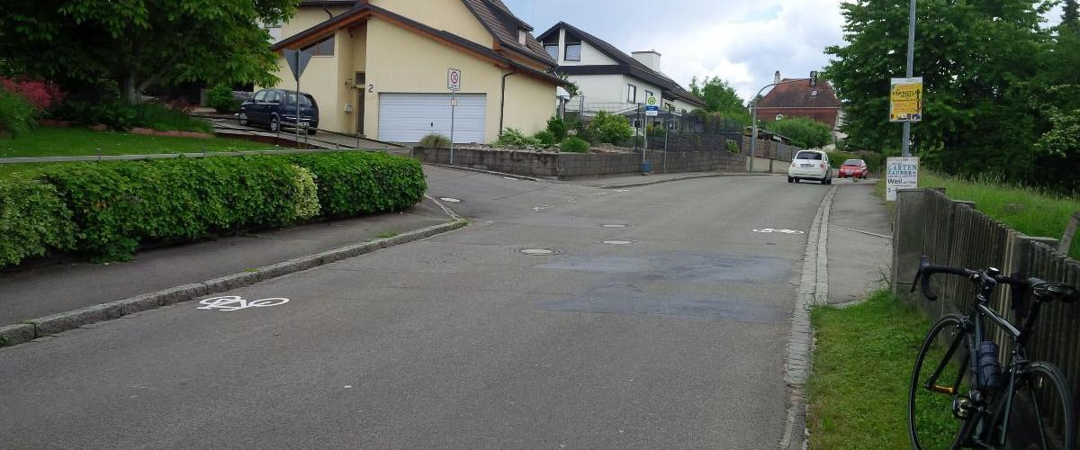 Fahrradpiktogrammspur Rümmingen K6354