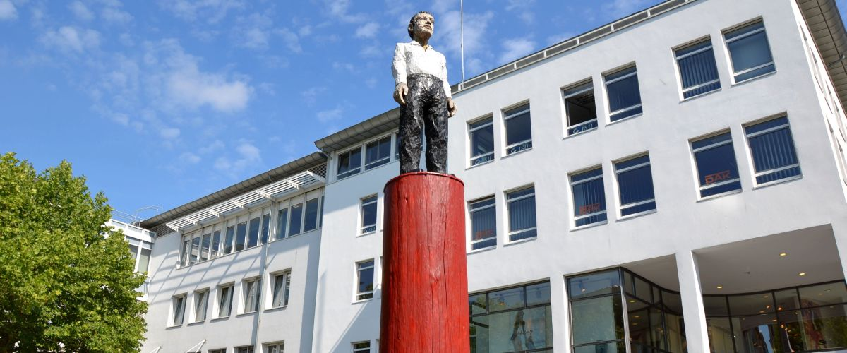 Skulptur beim Senser Platz in Lörrach