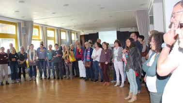 Gemeinsam stark für eine gute Sache: Teilnehmer beim Austauschtreffen Intergration