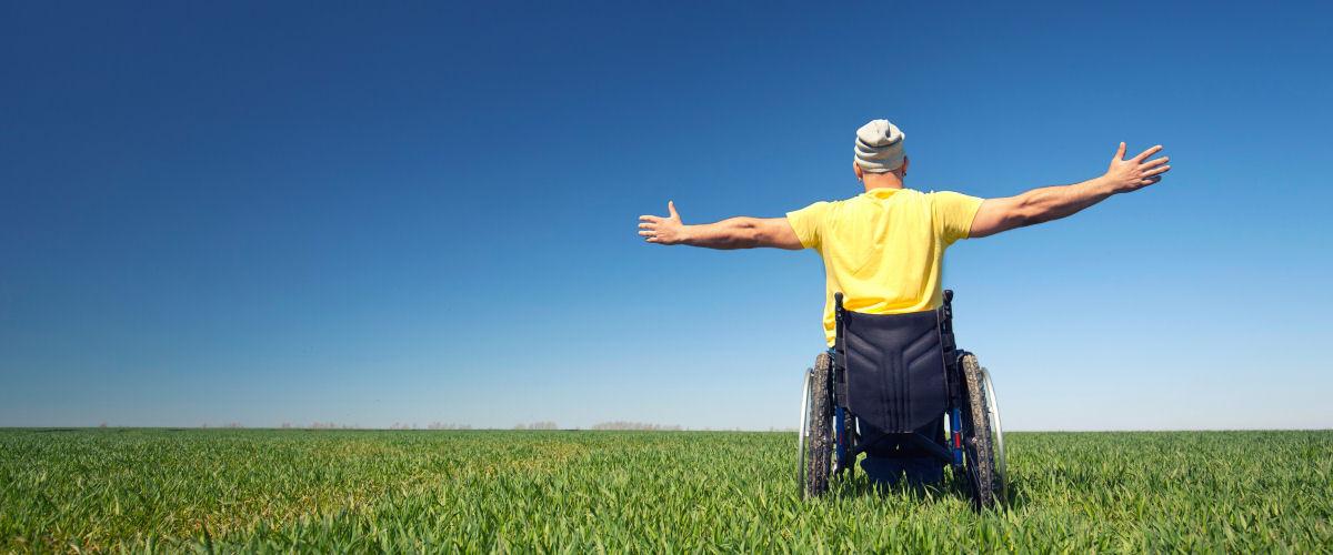 Wegweiser für Menschen mit Behinderung (Symbolbild)