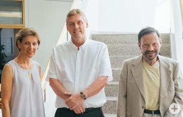 Mitarbeiter mit 40-jährigem Dienstjubiläum – von links: Marion Dammann mit Joachim Hildebrand und Uwe Mayer