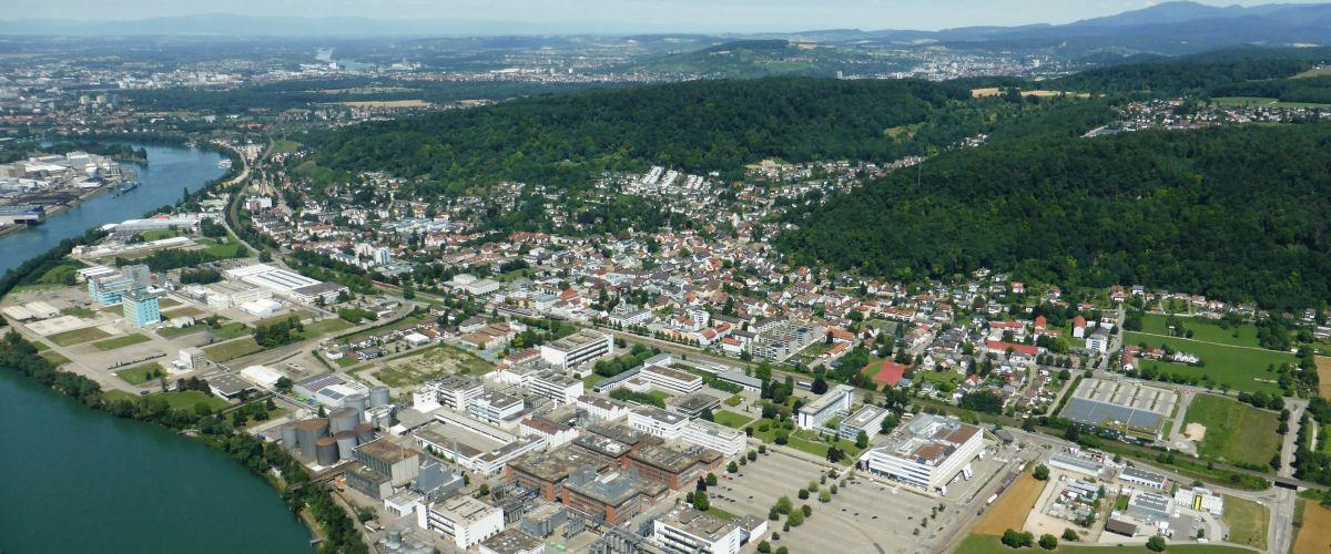 Luftbildaufnahme von Grenzach-Wyhlen, OT Grenzach