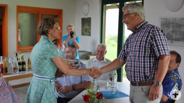 Landrätin Marion Dammann verabschiedet BLHV-Bezirksgeschäftsführer Albert Zimmermann