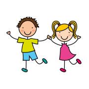 Zeichnung mit zwei Kindern - Quelle: Fotolia