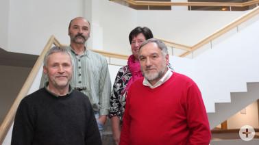 Mitarbeiter mit 40-jährigem Dienstjubiläum (von links): Reiner Dickele, Matthias Götz, Sabine Laifer und Rolf-Dieter Rausch