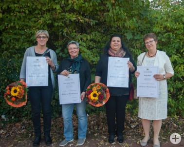 Silberne Meisterbriefe der Hauswirtschaft erhielten (von links) Sandra Hatko, Irene Juditha Meßmer, Giuseppa Carletta und Monika Hagin.