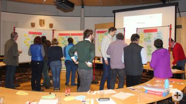 Aktive Teilnehmer beim ersten Ideen-Workshop zum Klimaschutzkonzept des Landkreises Lörrach in Efringen-Kirchen