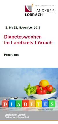 Bild Flyer Diabetespräventionswochen 2018