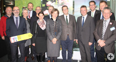 Die AG Naturparke Baden-Württemberg stellte bei der Pressekonferenz auf der CMT u. a. die Bilanz 2018 und ausgewählte Projekte aus den Naturparken vor