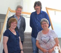 Mitarbeiter mit 40-jährigem Dienstjubiläum (von links): Ilona Hugenschmidt, Klaus Sauer, Walter Kohler, Marianne Vachaja-Minke