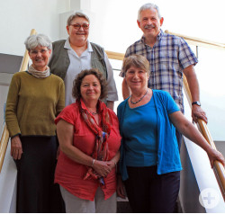 In den Ruhestand verabschiedete Mitarbeiter: Dr. Claudia Lappe, Renate Züger, Elisabeth Spöri, Irene Lang, Hans-Dieter Leisinger