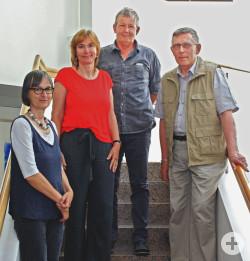 Mitarbeiter mit 25-jährigem Dienstjubiläum (von links): Antoinette Gulde, Jutta Siebert, Jürgen Meier, Edgar Bittner