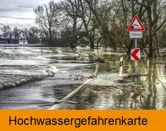Externe Anwendung Hochwassergefahrenkarte