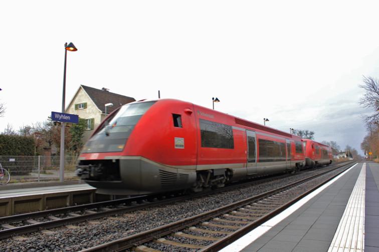 Diesellok am Bahnhof Wyhlen