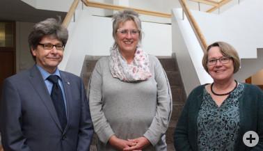 Mitarbeiter mit 40-jährigem Dienstjubiläum (von links): Udo Wegen, Edith Schwöble
