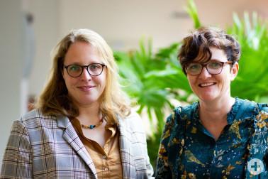 Das neue Team der Frühen Hilfen in Schopfheim: Kerstin Monatsberger-Rogge (links) und Beate Schapfel. Foto: Landratsamt Lörrach